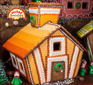 Chocolate Orange Piped Lace Gingerbread House