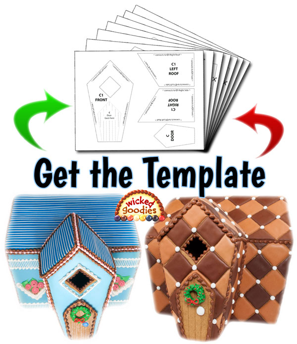 Free Printable Gingerbread House Cookie Template