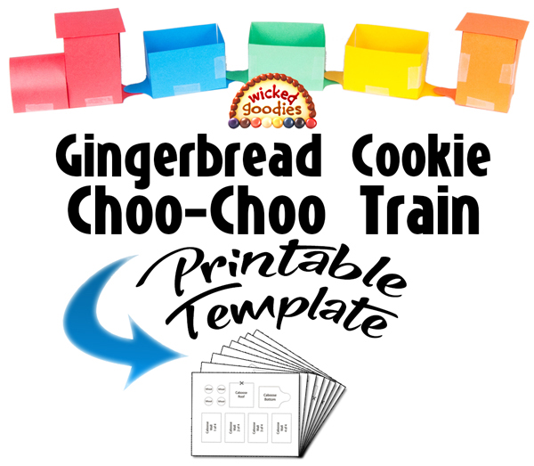 Gingerbread House Train Template