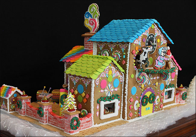 Gingerbread Candy Factory By Lynne Schuyler
