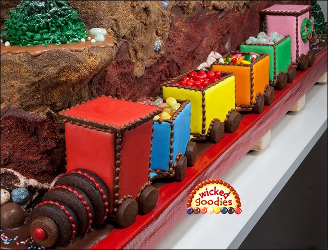 Gingerbread Cookie Choo Choo Train