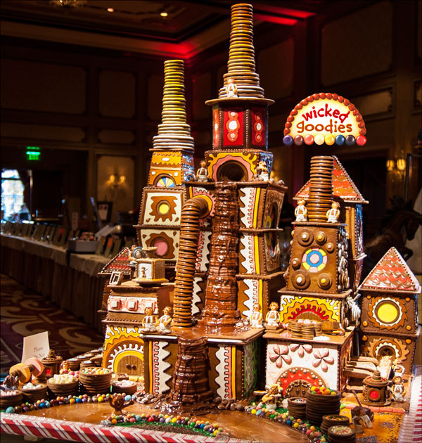 Giant Chocolate Factory Gingerbread House