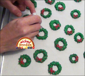 Piped Royal Icing Wreaths