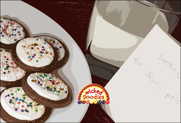 Milk, Cookies, and Letter to Santa Wicked Goodies