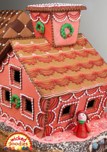 Red Swag Decorative Gingerbread House Wicked Goodies