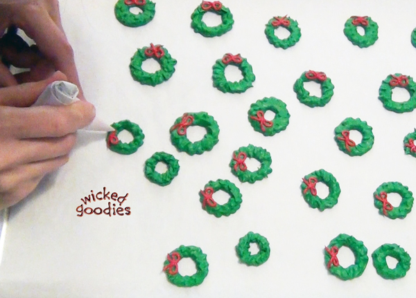 Royal Icing Wreaths