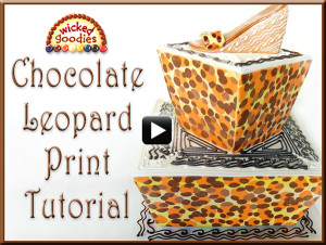 Chocolate Leopard Print Tutorial by Wicked Goodies