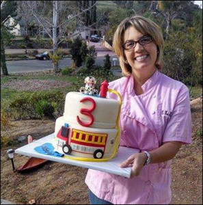 Firetruck Cake by Jen Drury of No More Boring Cakes