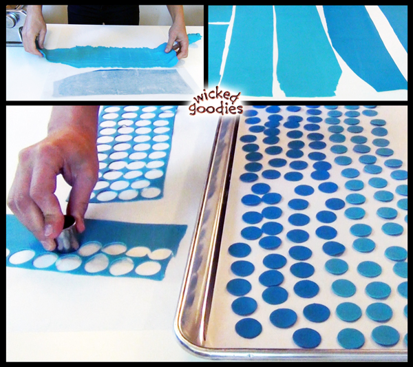 Blue Ombre Bling Modeling Chocolate Cake Design