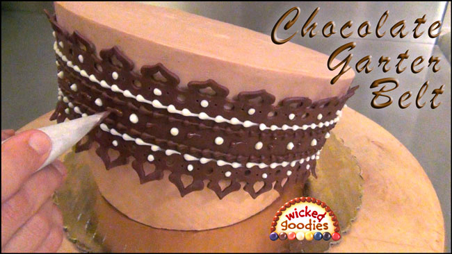 Cake Decorating Ideas With Modeling Chocolate : Modeling Chocolate Lace Garter Belt