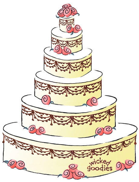 cartoon picture of a wedding cake how to write a cake contract 12418