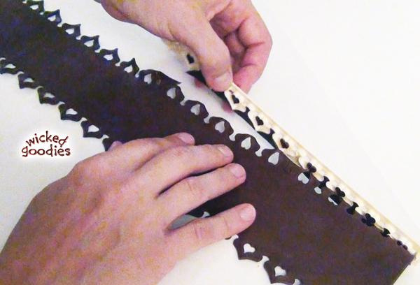 Lace Garter Belt Cake Wrap
