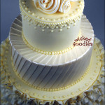White Bride's Gown Wedding Cake
