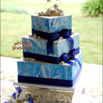 Blue Marble Wedding Cake