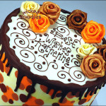 Chocolate Leopard Print Cake