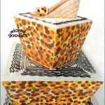 Leopard Print Shoe Cake