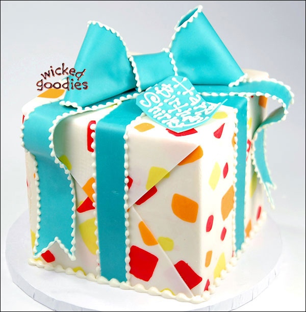 Wrapped Gift Box Cake