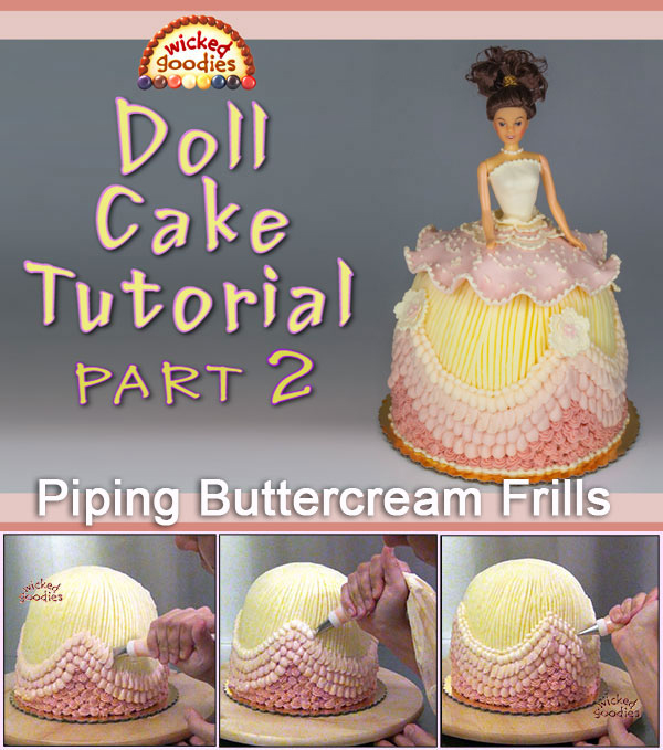 Doll Cake Buttercream Piping