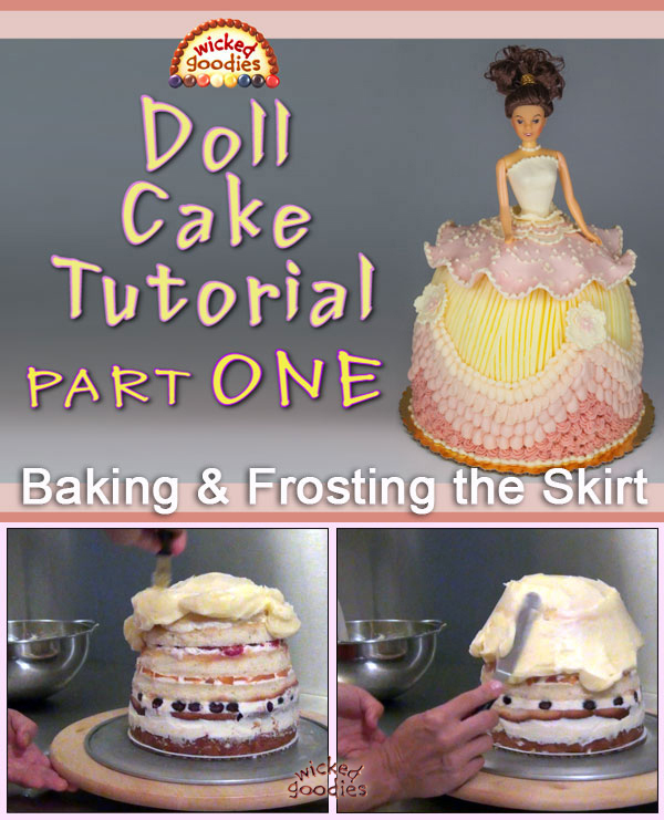 Doll Cake Baking and Frosting