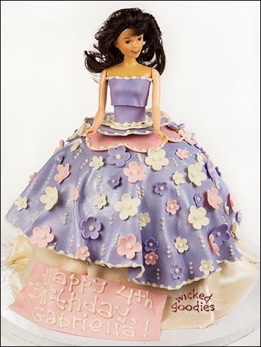 Decorating a Doll Cake Torso