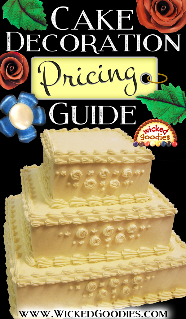 Add On Cake Decorations Pricing