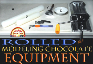 Rolled Modeling Chocolate Equipment