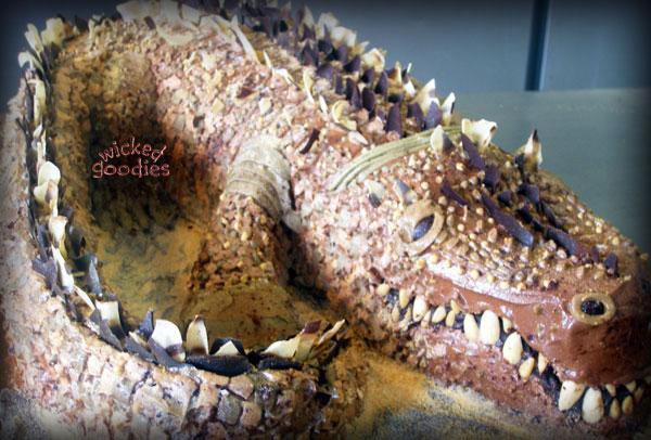 Crocodile Cake with Creepy Edible Teeth