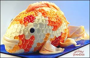Fish Cake with Modeling Chocolate