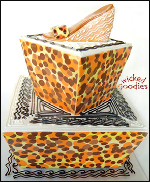 Leopard Print Modeling Chocolate