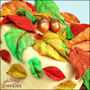 Modeling Chocolate Leaves and Acorns