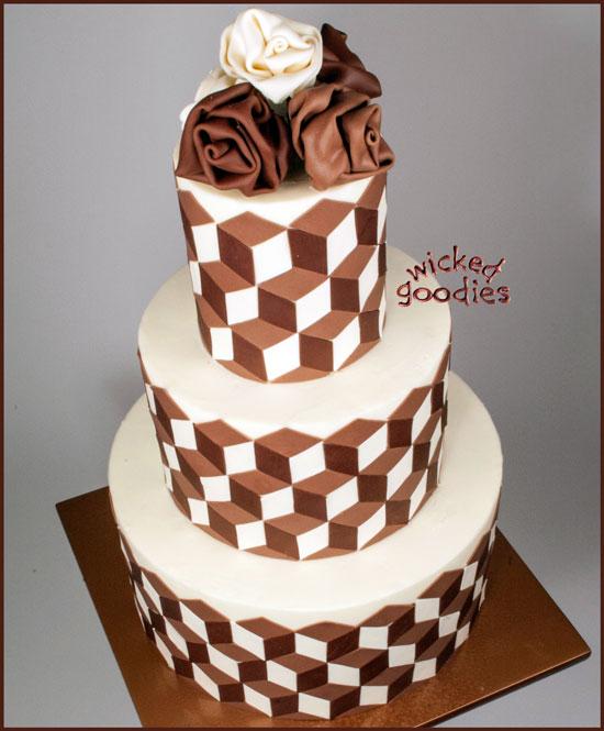 Chocolate Optical Illusion Cake
