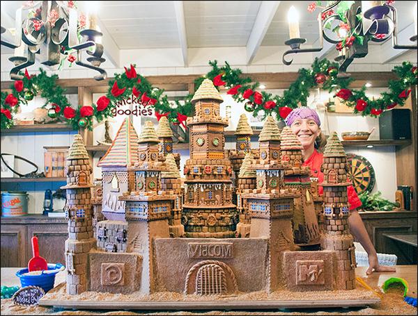 Giant Gingerbread Castle