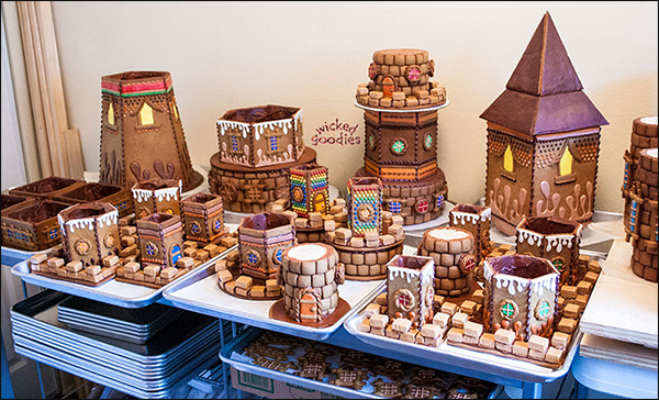 Gingerbread House Castle Turrets