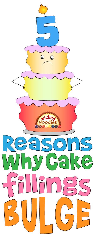 Why Cake Fillings Bulge, Top 5 Reasons