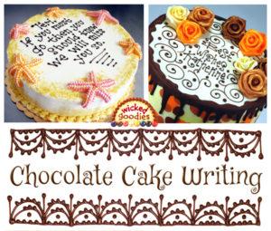 Chocolate Cake Writing Video Tutorial