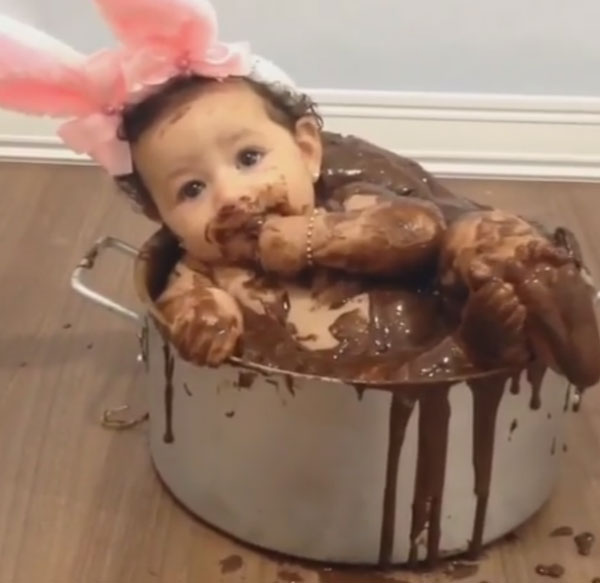 Eating A Baby Cake