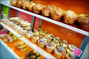 Criossants in a Paris Bakery