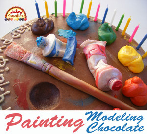 How to Paint on Modeling Chocolate
