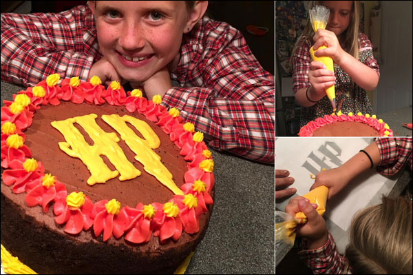 Harry Potter Cake Made by Maddie