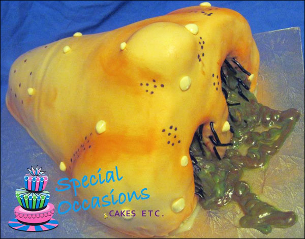 Runny Nose Booger Cake made by Joanne Spence of Special Occasions Cakes Etc.
