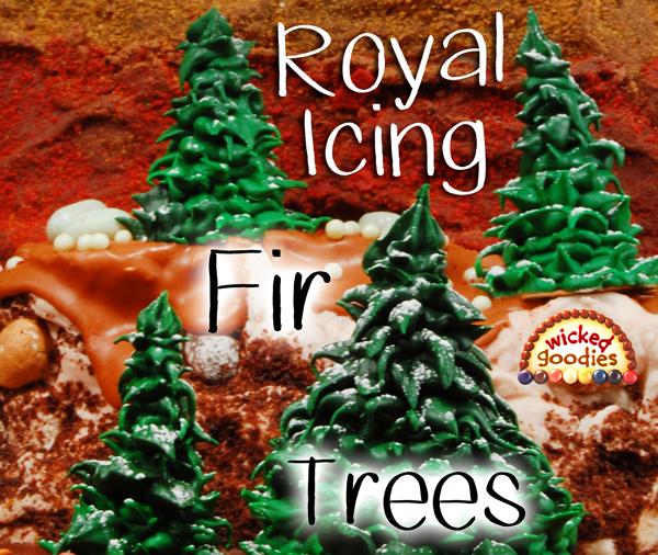 Royal Icing Fir Trees