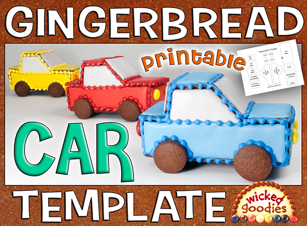 Gingerbread House Car Template