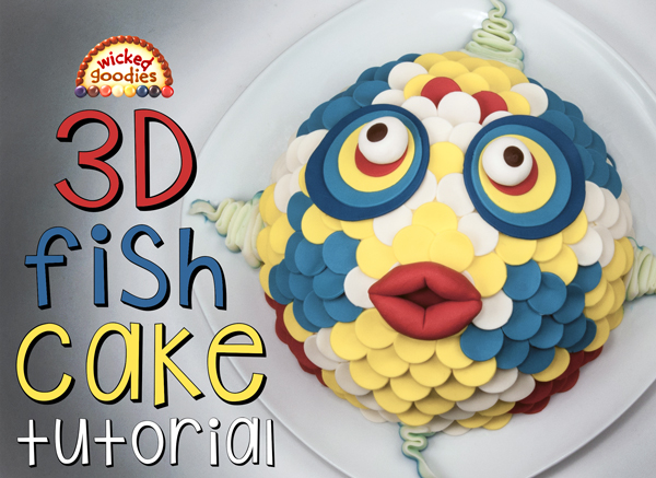 3D Fish Face Cake Tutorial