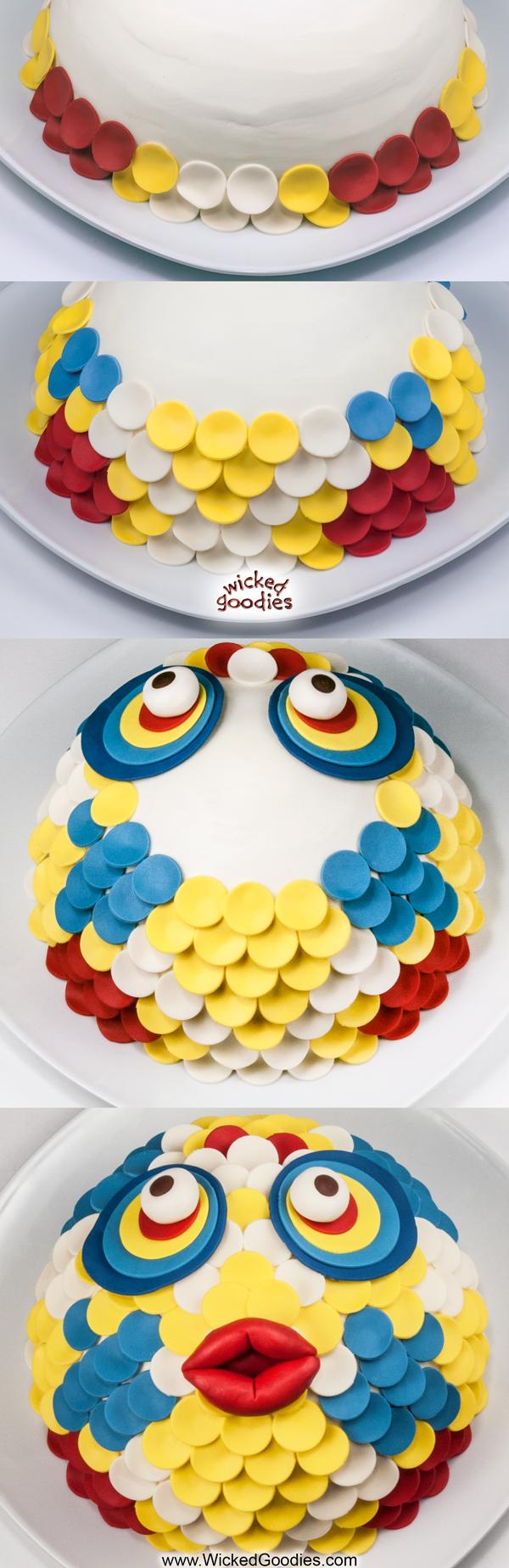 3D Fish Face Cake Tutorial
