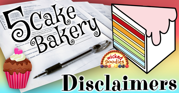 Cake Bakery Disclaimer Form