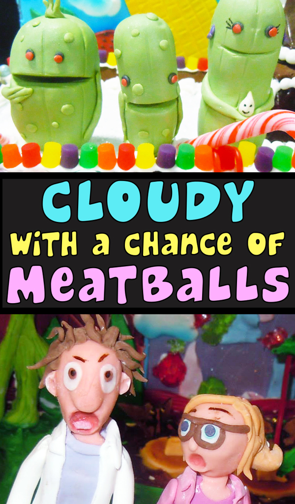Cloudy with a Chance of Meatballs Gingerbread House